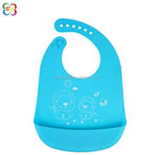Comfortable Soft Keep Stains Off Baby Bibs Waterproof Easily Wipes Clean Silicone Bib