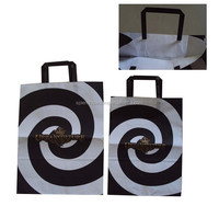 Customized factory made paper grocery bags