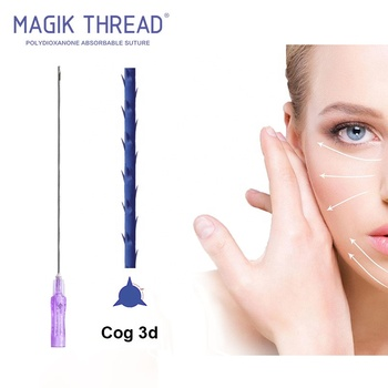 Barbed COG 3D / 4D PDO Thread injectable collagen for face lift