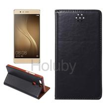 Alibaba Leather Phone Case for HuaWei Ascend P9 Plus, Automatic Suction for HuaWei Ascend P9 Plus Flip Cover with Card Slots