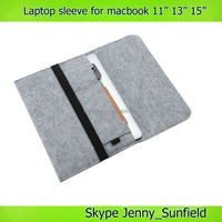 "Wool felt soft laptop sleeve for macbook air 11"" 13"" ,for macbook case"