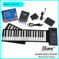 88 keys flexible piano keyboard lithium battery operated portable piano