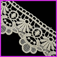 World Trims Swiss Embroidery Cotton Crochet Cord Lace WNL125