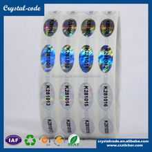 a4 size self-adhesive top quality hologram sticker,3d effect gold sticker hologram
