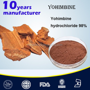 Pure Yohimbine Bark Extract Yohimbine by HPLC 8%-98%