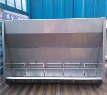 double-side stainless steel pig feed trough for sale