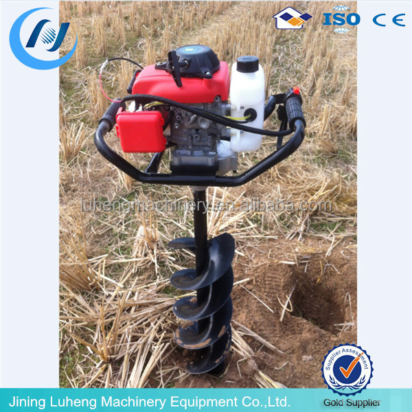 52cc gasoline Earth auger, hand soil digger/hand manual earth soil auger