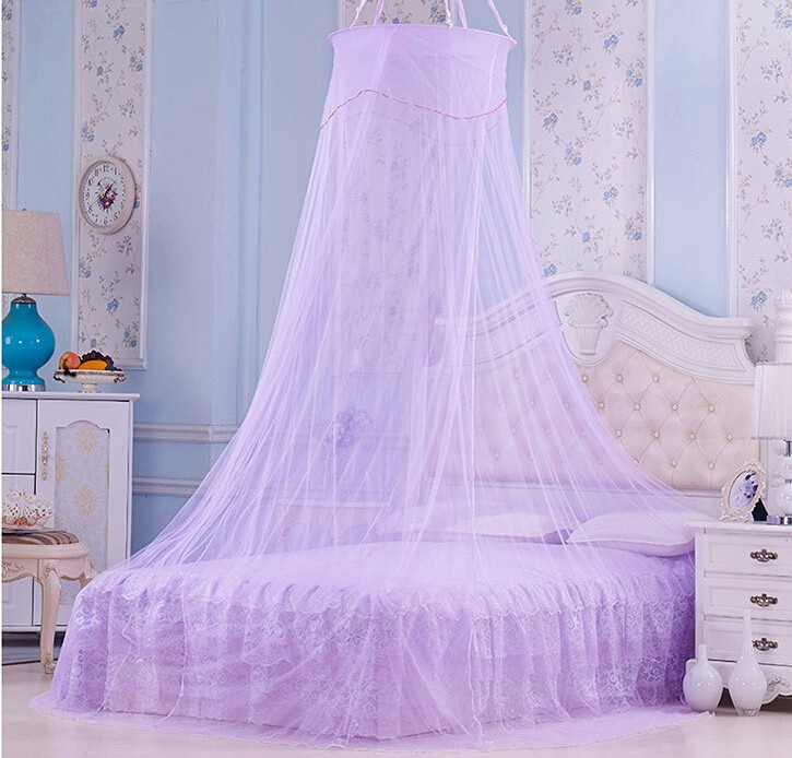 canopy bed curtains/butterfly round mosquito net