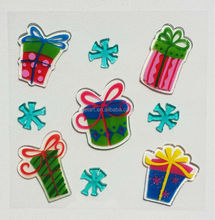 Printed Merry Christmas gifts window gel sticker wall sticker