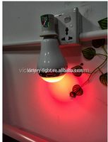 Red/green/blue diffe color magic 10w led wireless bluetooth speaker light bulb