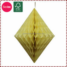 Tissue Paper Fancy Wall Paper Diamond Honeycomb Party Decoration Material