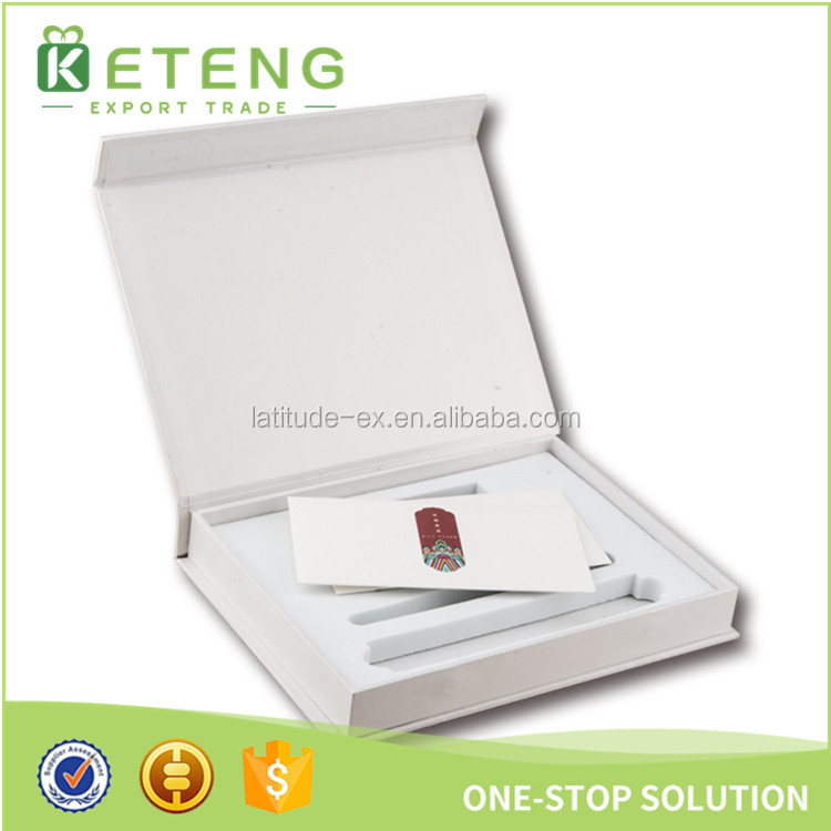 Luxury white gift box packaging for business card