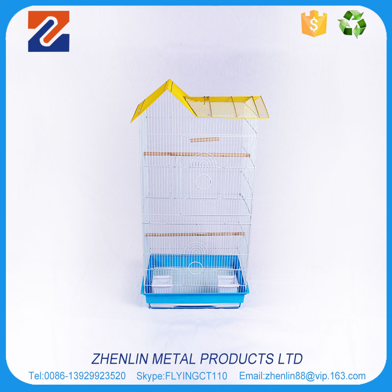 Factory price vietnam iron wire bird cage decorative with tray