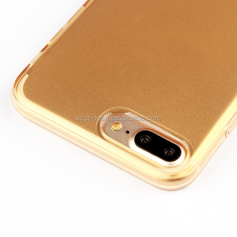 Phone accessory for iphone 7 plus transparent bright color tpu phone case for iphone 7 plus