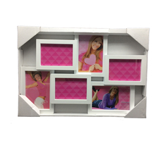 China supplier sell beautiful girl sex photo frames price cheap white plastic collage photo frame new models