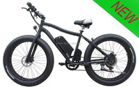 500W chopper beach cruiser fat tire electric bicycle | 4.0 fat electric Bike / fat mountain e bike