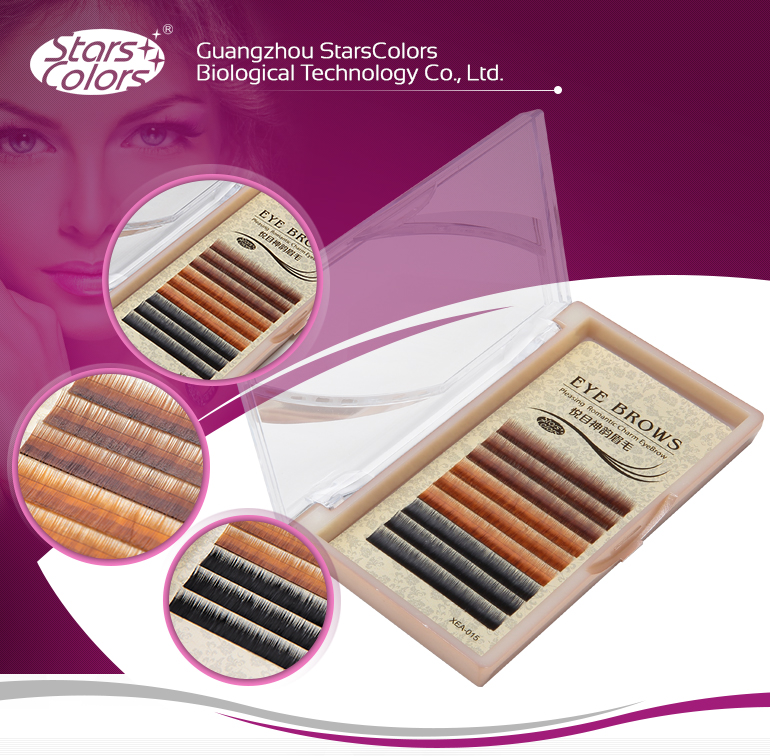 Colorful eyebrow extension different colors eyebrow