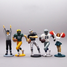 American football PVC figurine, customize rugby plastic figurine, custom made football player figurine