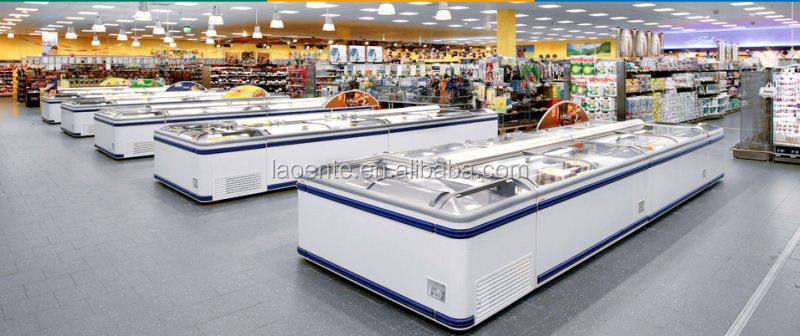 Frozen Food Display Freezer Fresh Meadows with CE certification