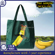 free sample 2017 OEM Cheap Recycled Nylon Polyester eco foldable shopping bag