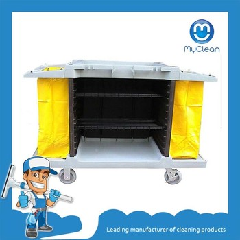 cheap janitor fold clean mobile trolley cart