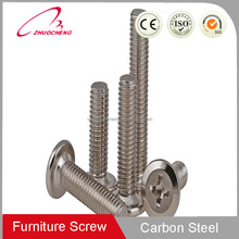Table Leg Screws Carbon Steel Furniture Connecting Screws
