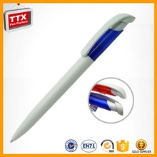 Japan stationery 6 color plastic ballpoint pen,plastic promotion pen