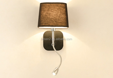 Hotel project wall lamps LED reading lamp fabric shape wall light