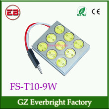 Best price and good quality car high power led 9W festoon led light, dome light, cob dome led