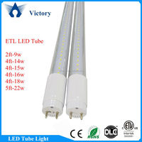 DLC ETL led T8 4ft 18w Girl Tube with AC100~277V 3 years warranty