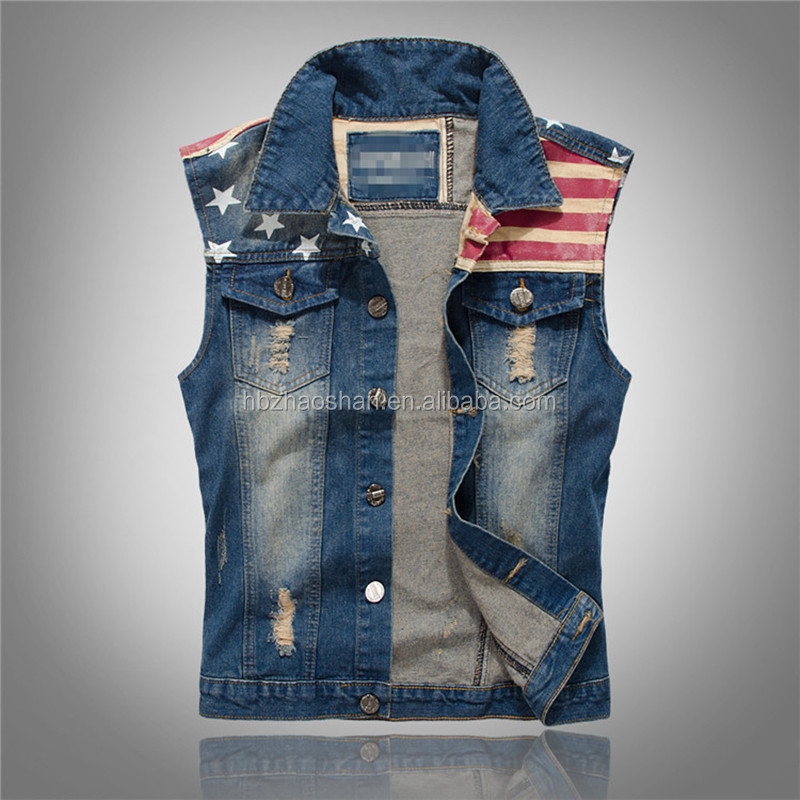 New Product Korean Style Fashion Denim Vest For Outdoor Men Vest Leisure Sports Vest