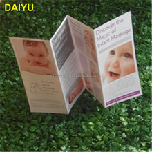 customized fast delivery cheap color 2 3 4 folded leaflet brochure printing