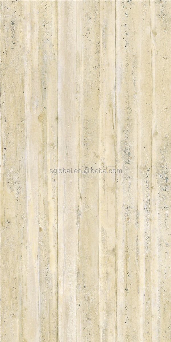 Outdoor and indoor floor tile 1200x600 , stone look big size porcelain tile , bamboo porcelain floor tile