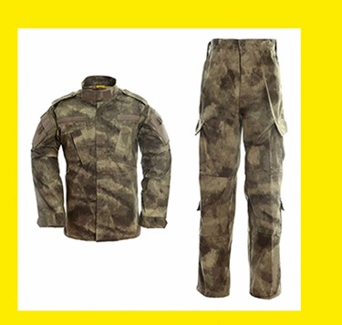 FBP013 Black Colour Army Cargo Camo Combat Trousers