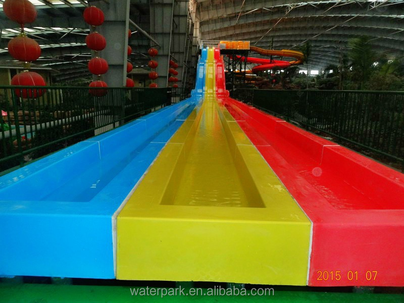 Side-by-side Multi-lane Fiberglass Race Slide, Racing Waterslide, Custom Water Slides