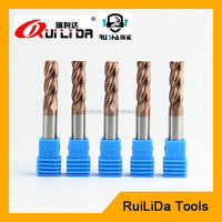 spiral carbide roughing end mills cnc milling cutting tools for Steel