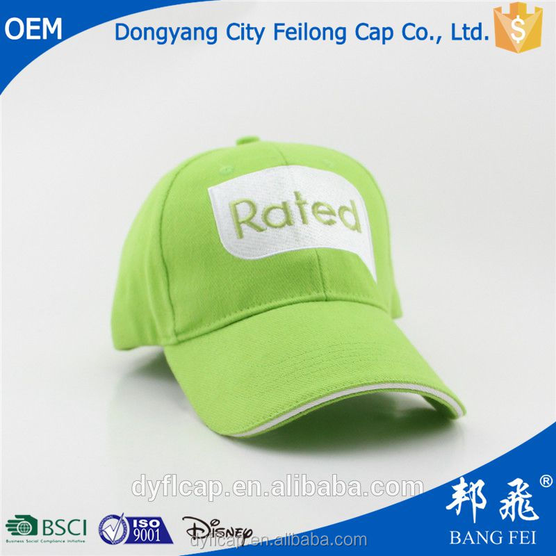 green wholesale Embroidery logo baseball hat fashion meadow