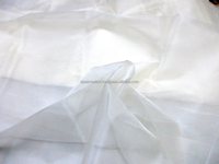 Indian silk organza fabric, 100% silk, off-white