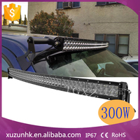 Wholesale curved Epistar 300w led light bar,car roof top light bar for all cars