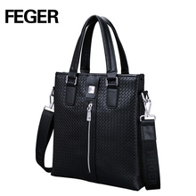 China Custom Design Handbags Men's Bags Shoulder Genuine Leather