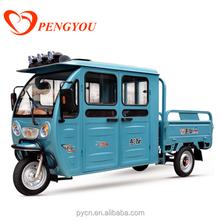 Hot Sale Cheap Electric Tricycle for Cargo and Passenger/3 Wheel Tuk Tuk With Closed Cabin