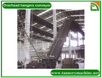 tannery machine overhead chain conveyor for karakul skins