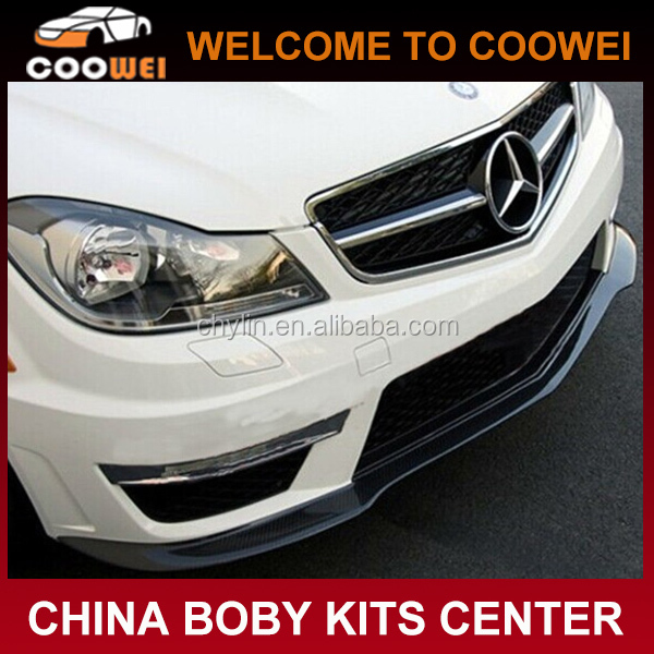 2014 W204 C63 Carbon Front Lip for Mercedes Ben-z W204 AMG Bumper