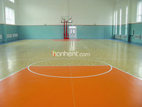 Wooden pattern Anti-slip Hot selling Basketball Court Vinyl Flooring roll