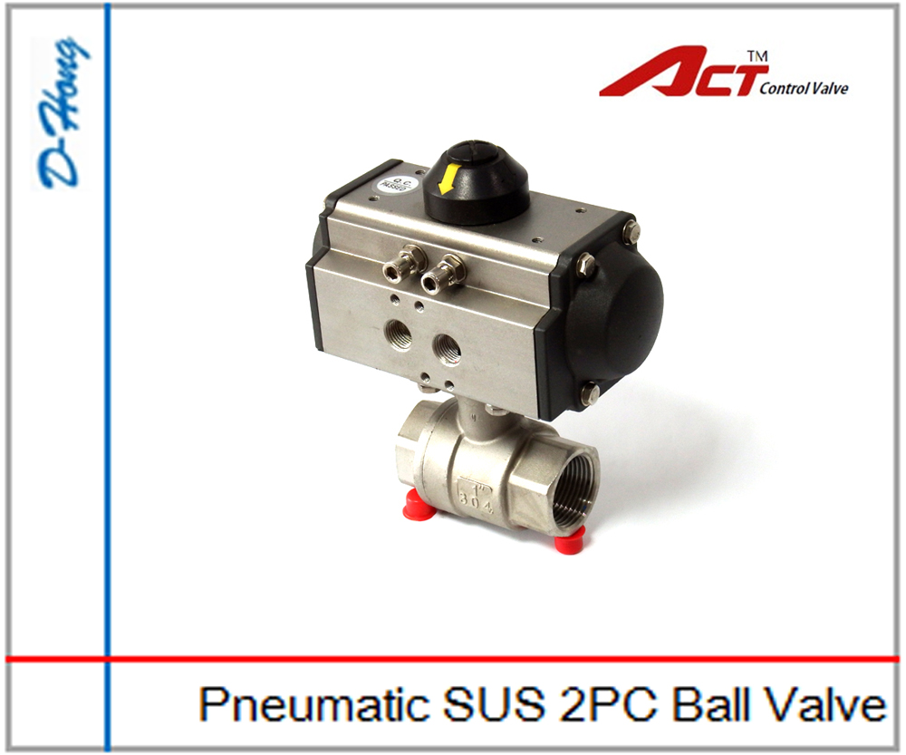 Pneumatic SUS 2PC Ball Valve