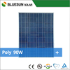 Bluesun high efficiency good quality poly 12v 90w solar panel price per watt