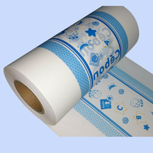 colour printing breathable pe film backsheet baby diapers used
