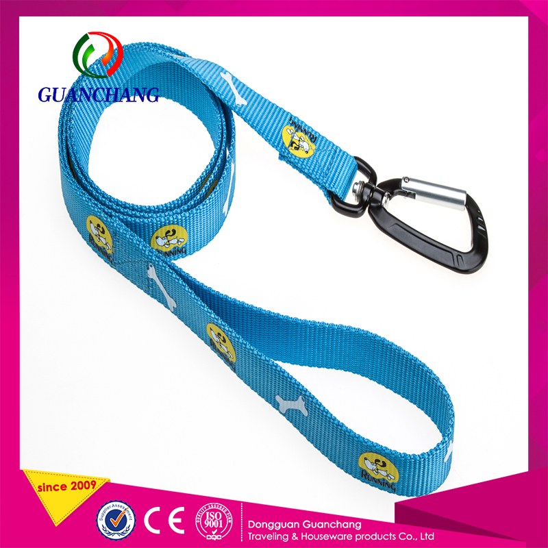 Pet products 2016 high quality polyester material retractable pet harness dog training collar and durable Leash strap wholesale