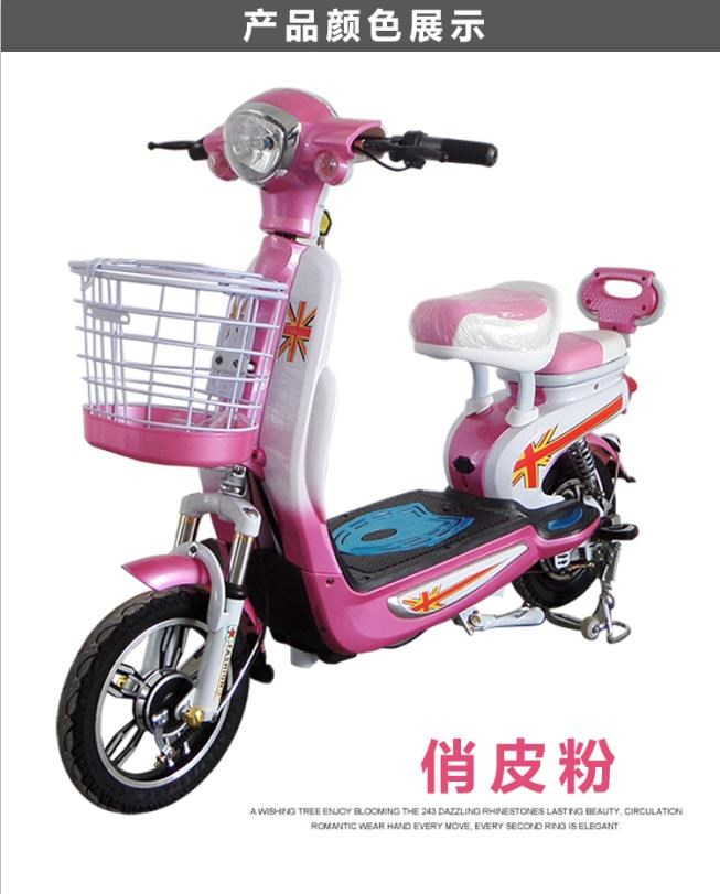 Electric battery car small power bicycle pedal simple moped double seats mini electric car