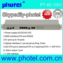 16E1 and Gigabit ethernet pdh sdh e1 networking e1 fiber optic modem